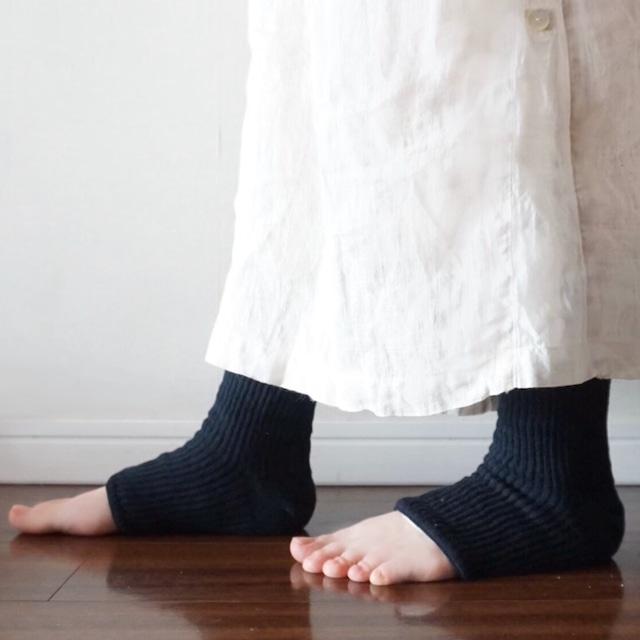 絹と炭のレッグ(足用)カカト付きウォーマー【当店限定販売】