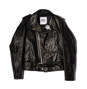 JUST NOISE BLACK LABEL: Leather Jacket-002