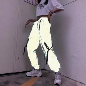 【ボトムス】反射ストリート系ファッションカジュアルパンツ42918293