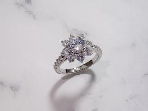 flowery diamond ring