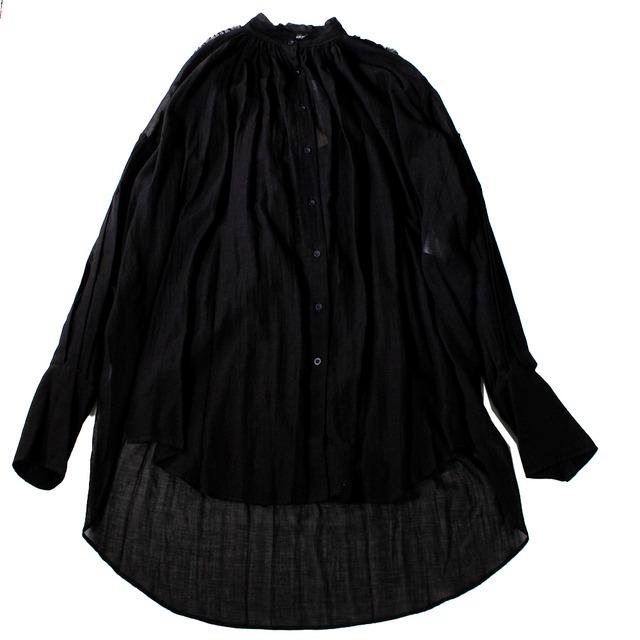 ANN DEMULEMEESTER Black Long Shirt