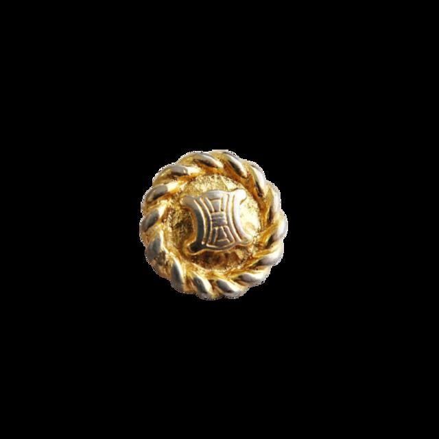 【VINTAGE  CELINE BUTTON】ゴールドフレーム ロゴボタン 18mm L-21003