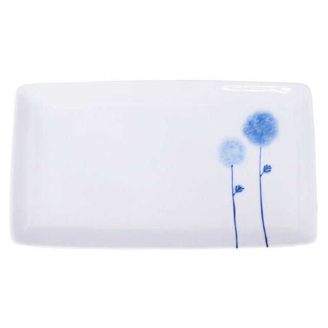 波佐見焼 WAZAN 和山窯 flowers 長角プレート 皿 フラワーボール 326974