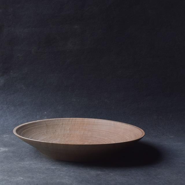 北山栄太 Eita Kitayama  メイプル・8寸深皿 (鉄媒染+ガラスコーティング)