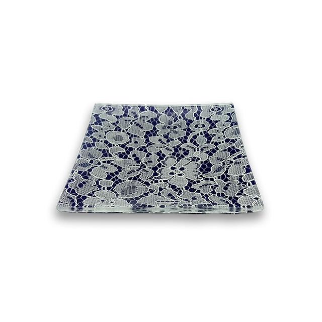 ガラストレー  #82432 ネイビー(10cm 角皿)