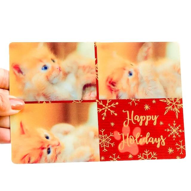 クリスマスカード ねこ3コマ