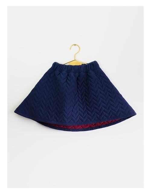 《WOLF & RITA 2016AW》LUCIANA skirt / blue quilte