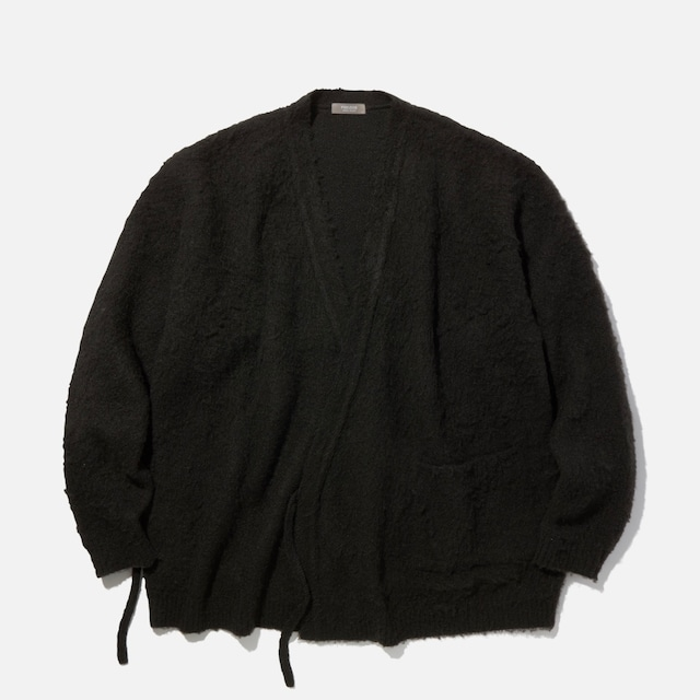 """【PSEUDOS】""""KNITTED WRAP CARDIGAN"""""""