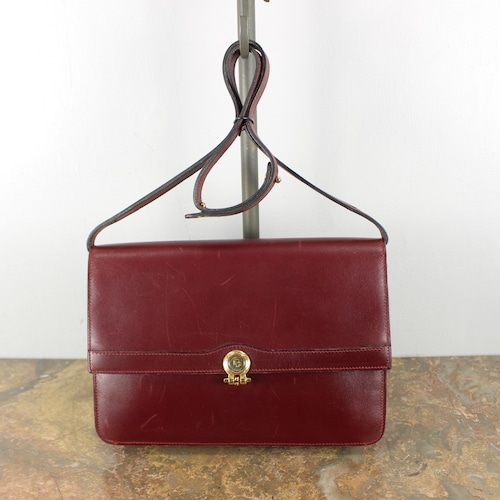 .Christian Dior LOGO LEATHER SHOULDER BAG MADE IN FRANCE/クリスチャンディオールロゴレザーショルダーバッグ2000000049915