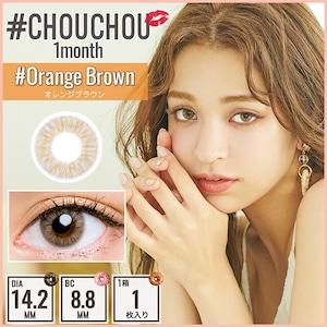 #チュチュオレンジブラウン(#CHOUCHOU #OrangeBrown)【日向カリーナ】【カラコン1ヶ月】【2箱 2枚¥2,530円】