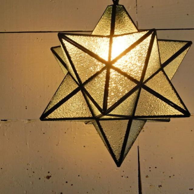 TOPANGA Lighting 70's STAR LAMP Big Star Glass Pendant Lamp デザインガラス