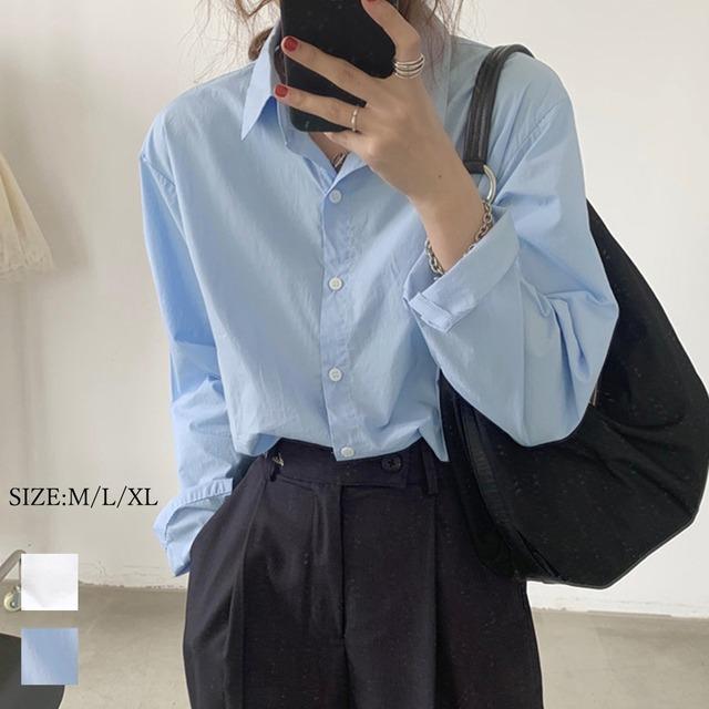 【即納】シャツブラウス 襟付き 長袖 レディース|fa2424