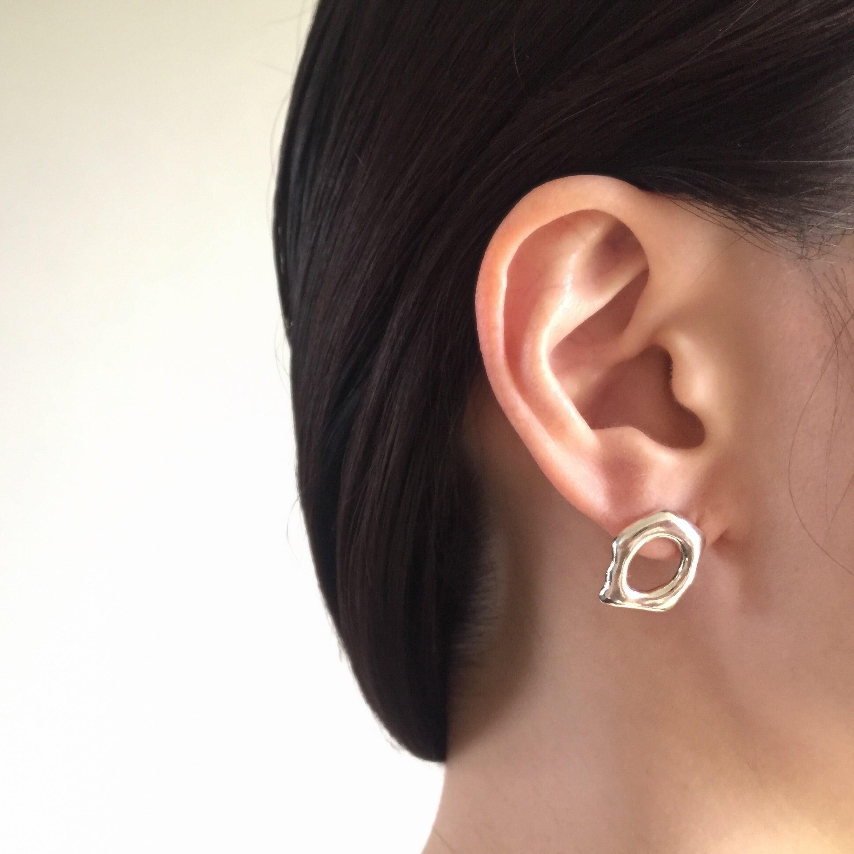 Tube colors pierced earrings 3 (pair)