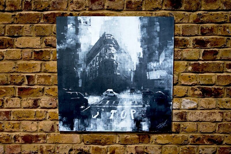 New York city scape composition #7 (額入り特別作品)