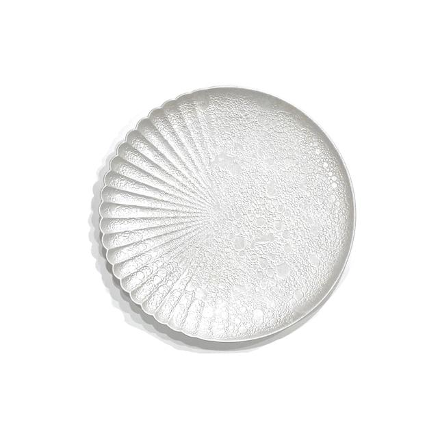 泡化粧 パール 片菊彫16cmプレート