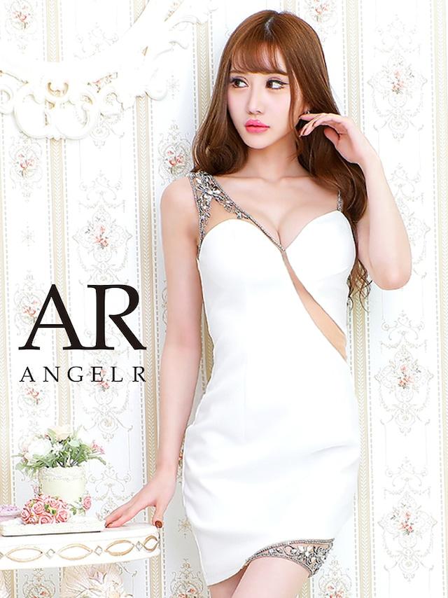 【AngelR】アシンメトリーショルダーメッシュカッティングタイトミニドレス(AR20226)