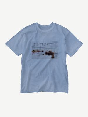 【悩み無用の開放ビーチ】ウォッシュTシャツ(ジーパンブルー)