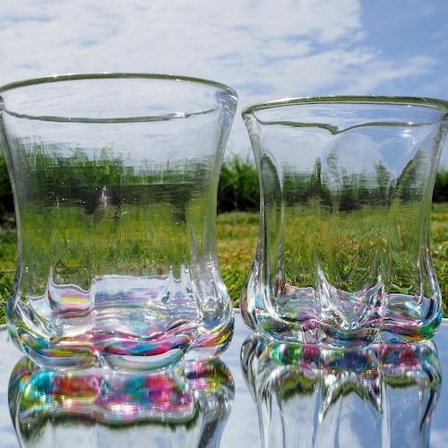 ななつばグラス【琉球ガラス工房雫】
