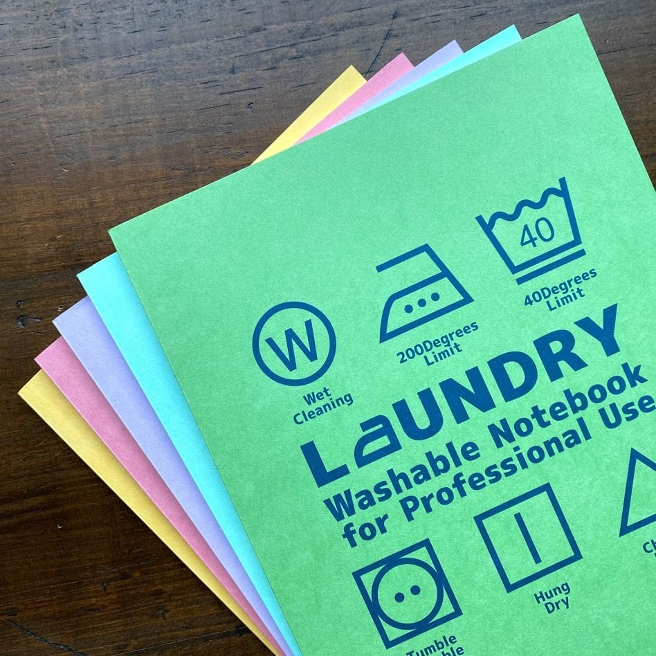 洗えるA5耐洗紙ランドリーノート(イエロー・ウキウキノートの中身ノート)
