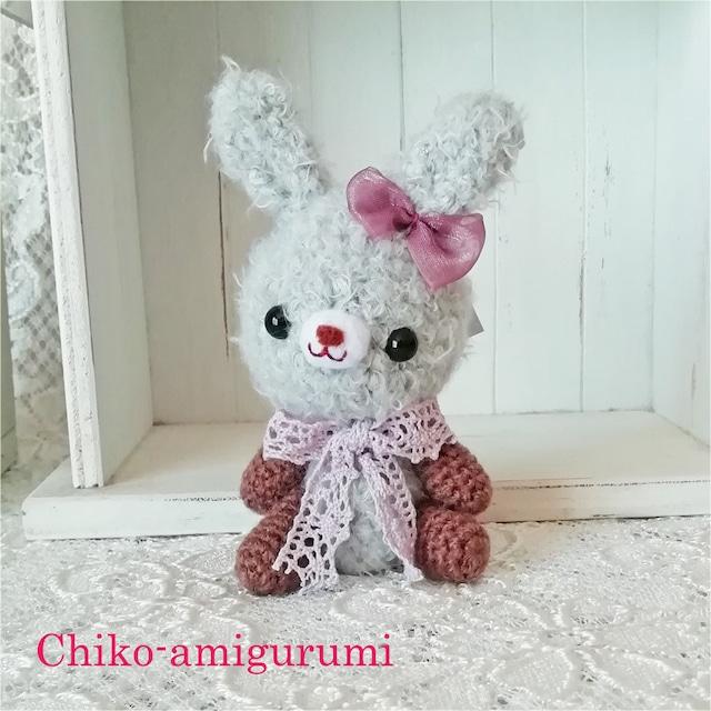 Chiko-amigurumi:グレーのうさぎさん 少し大人っぽいあみぐるみ♪