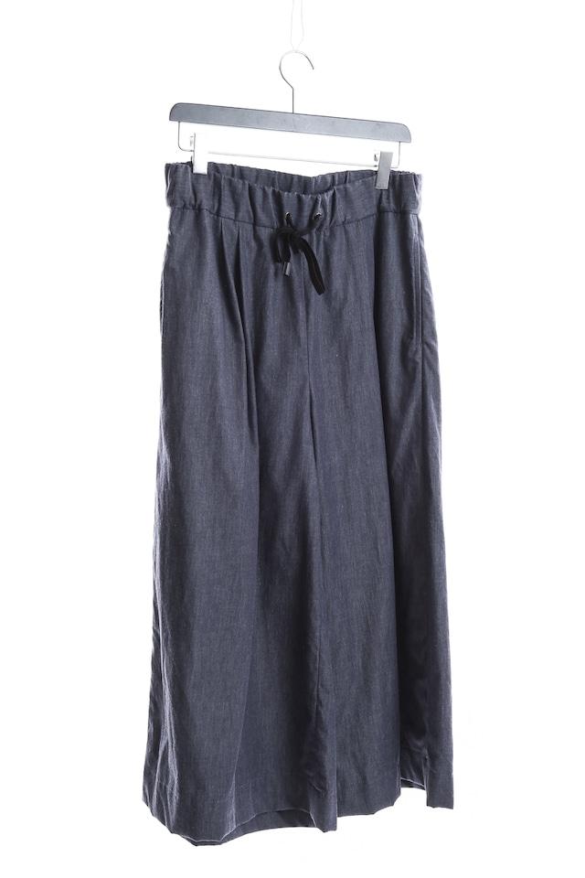 [受注生産]超薄デニム: ワイドパンツ WIDE PANTS 235068 ミハイルギニスアオヤマ[MADE IN JAPAN][税/送料込]