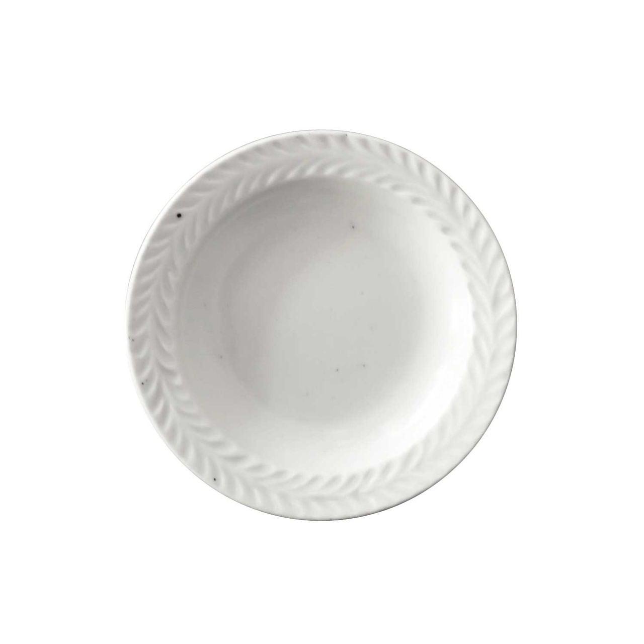 波佐見焼 翔芳窯 ローズマリー リムプレート 皿 約10cm マットホワイト 33412