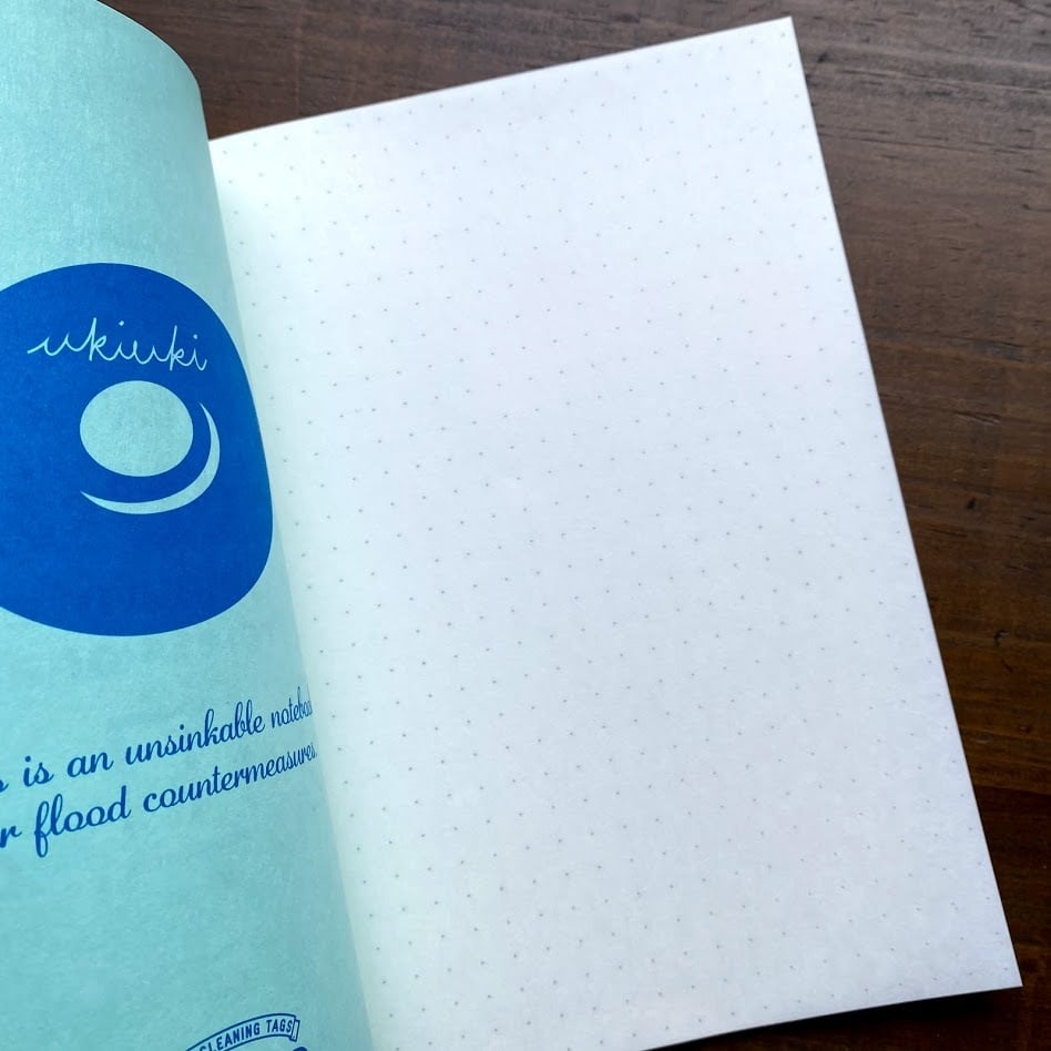 洗えるA5耐洗紙ランドリーノート(グリーン・ウキウキノートの中身ノート)