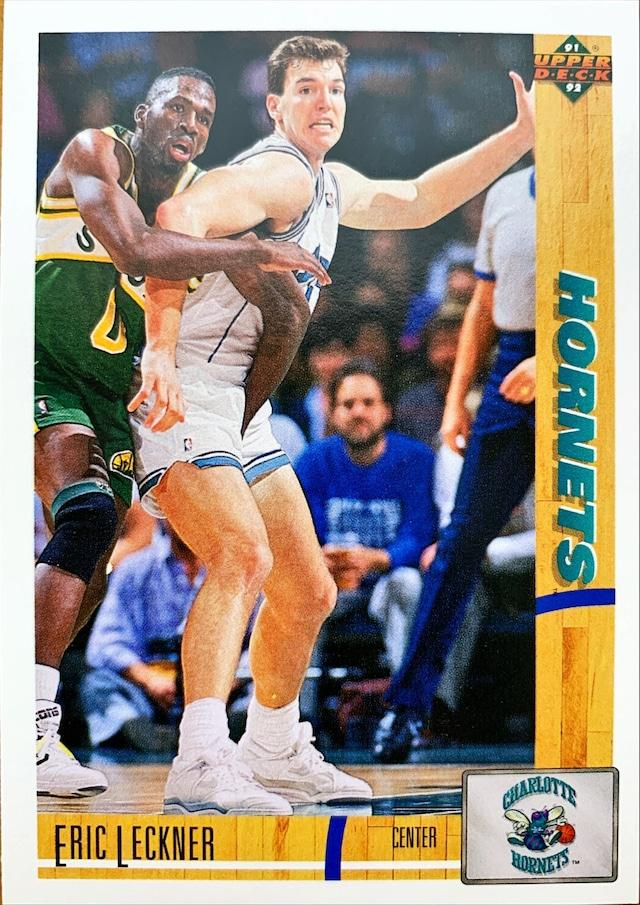 NBAカード 91-92UPPERDECK Eric Leckner #204 HORNETS