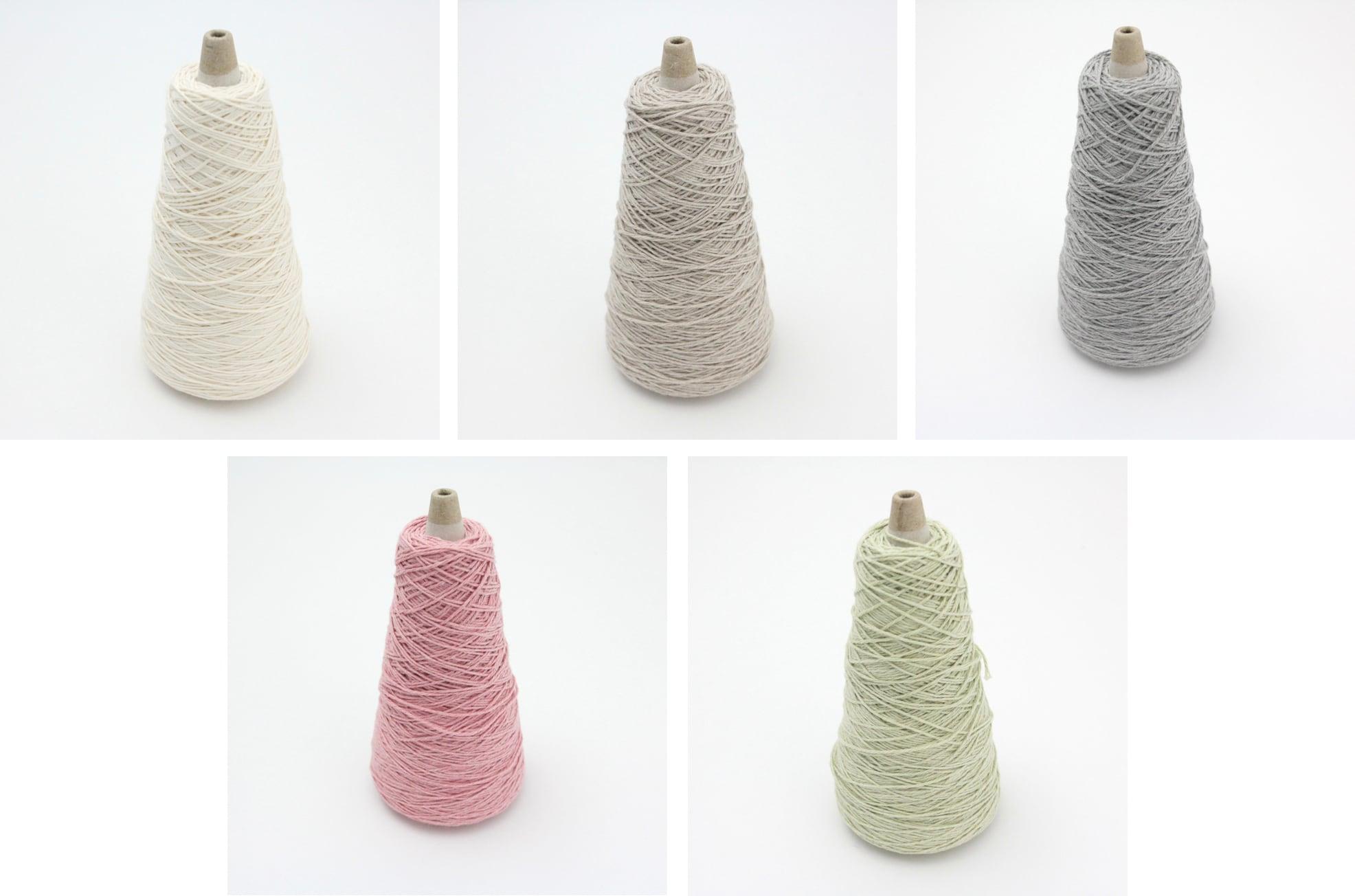 【編み物キット】まんまる羽のチョウチョのヘアゴム(糸:No.8)