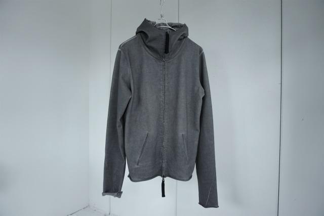 thom krom  / Heavy jersey zipup hoodie / GREYOIL