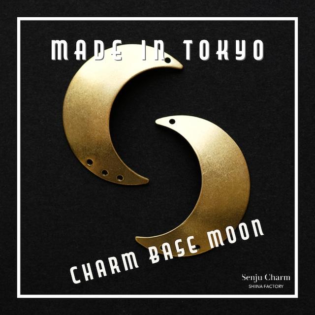 【1セット】チャーム・ベース 三日月B(左右セット)プレーン(日本製、真鍮、無垢)