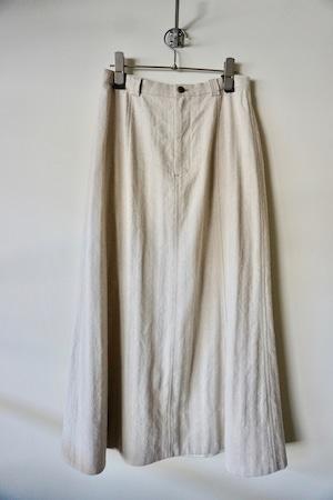 Li / Co Herringbone Semi-flared Skirt [Ecru]