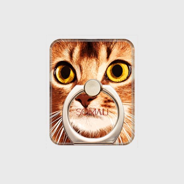 ソマリ おしゃれな猫スマホリング【IMPACT -color- 】