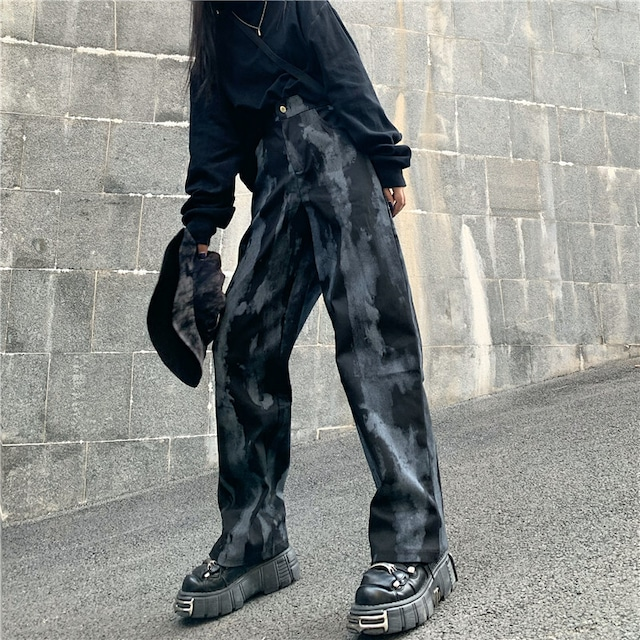 【ボトムス】カジュアル韓国暗黒系ファッションパンツ42906961
