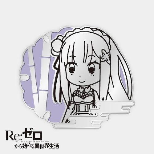 京とりっぷバッジ(エミリア)『Re:ゼロから始める異世界生活 』