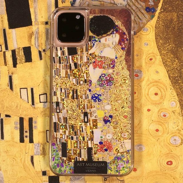 ARTiFY iPhone 11 Pro Max グリッターケース クリムト キス ゴールド AJ00515