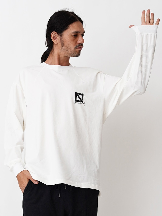 EGO TRIPPING (エゴトリッピング) LETTER TEE long レターTEEロングスリーブ / WHITE 663957-00
