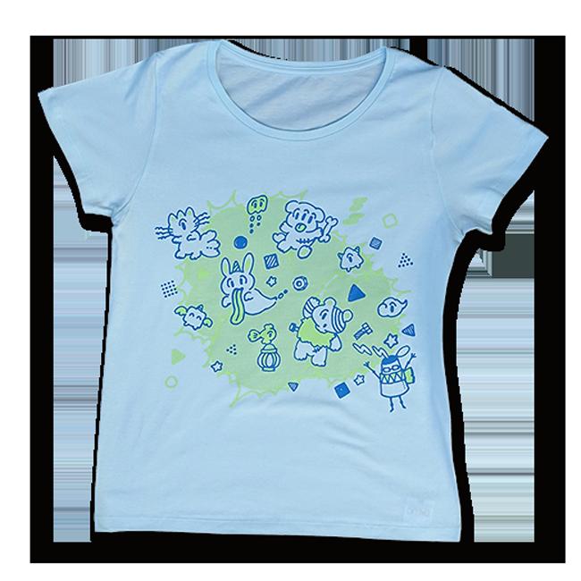sasakure.UK 「アタマ★ビックリ」Tシャツ (レディース/シャーベットブルー) - 画像1
