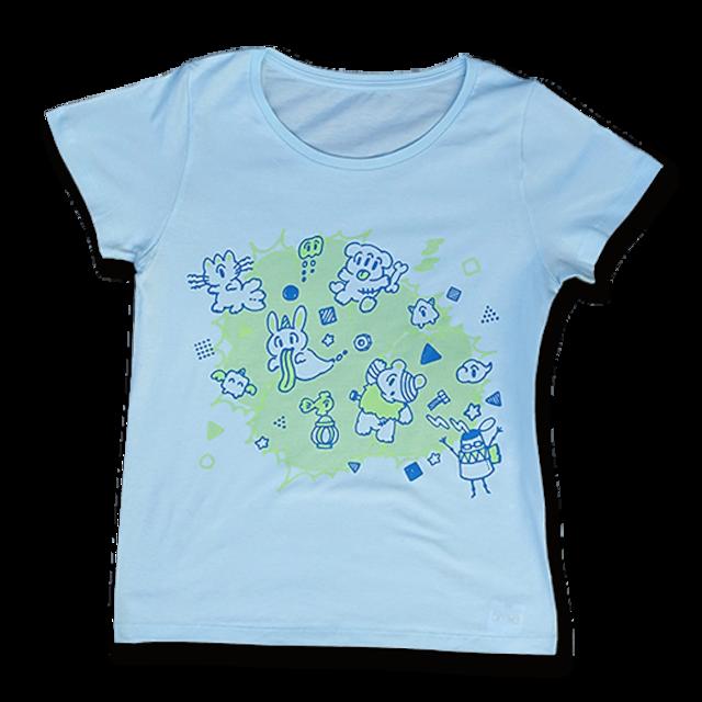 sasakure.UK 「アタマ★ビックリ」Tシャツ (レディース/シャーベットブルー) - メイン画像