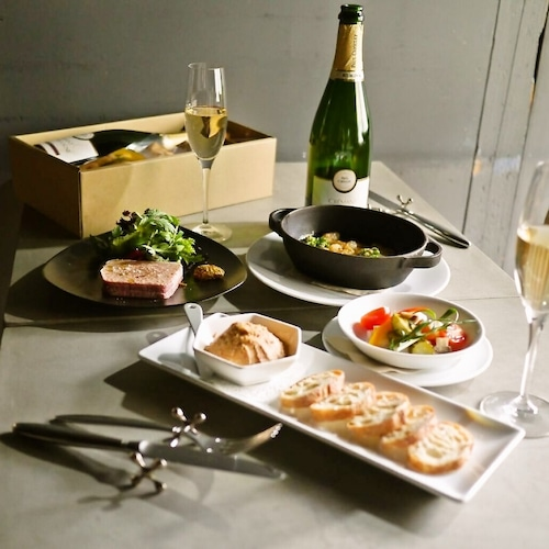 【送料無料】スパークリングと鴨を楽しむセットBOX(フレンチ惣菜 テリーヌ ワイン)【冷蔵便】の商品画像9