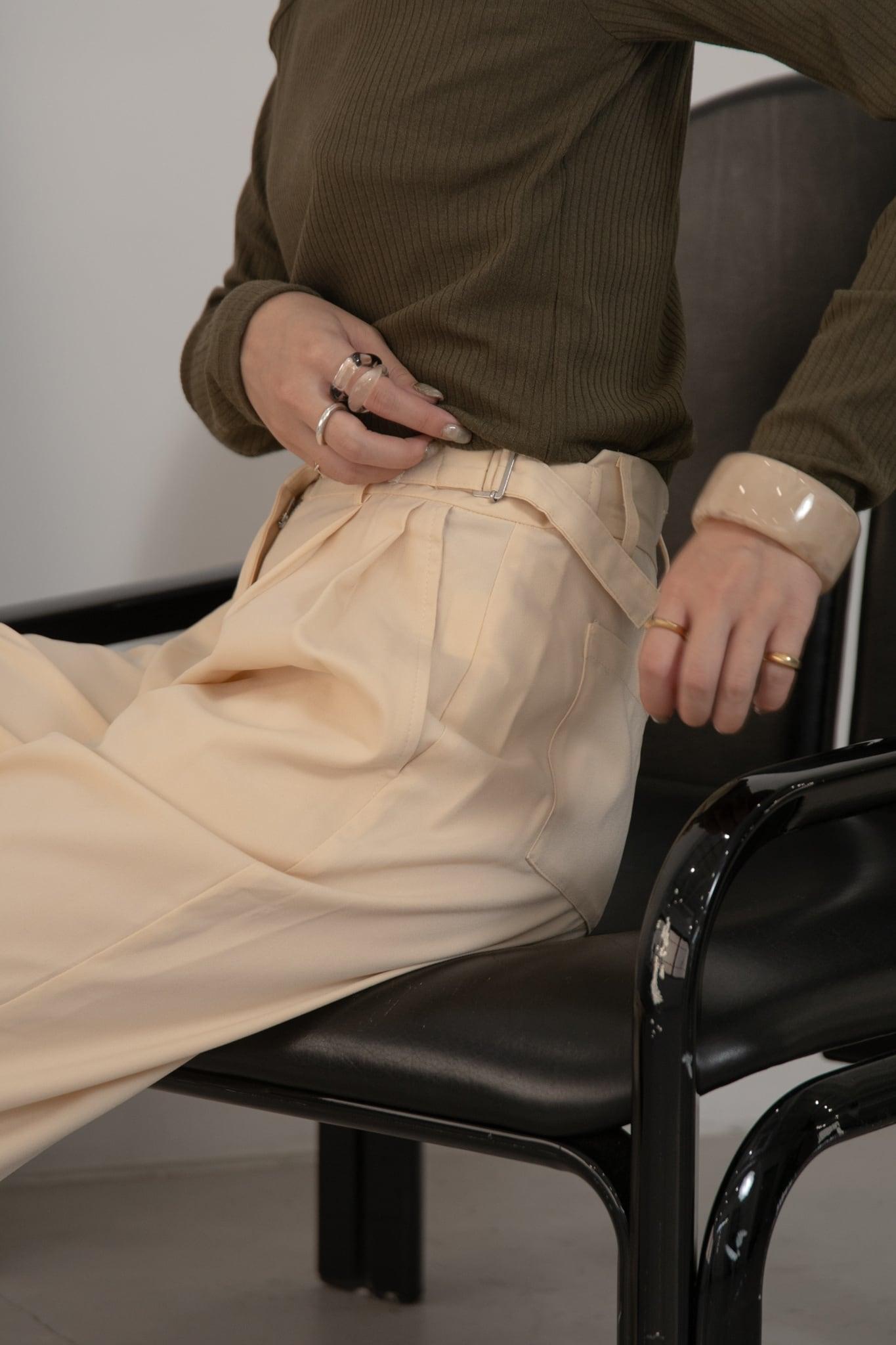 double belt pants