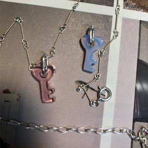ガラスのKey charm necklace silver925 #LJ20063N