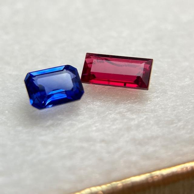【赤と青の世界】ルビーとサファイアのセット
