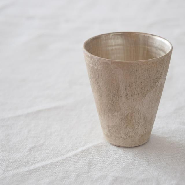 村井大介 Daisuke Murai 磁化粧銀彩フリーカップ