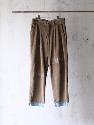 fake vintage repair pants