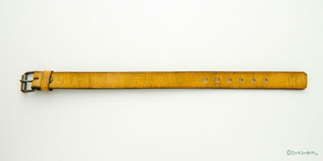 木版染革ベルト黄色M