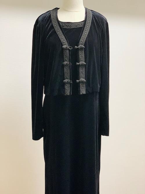 Vintage Velour Dress & Shirt