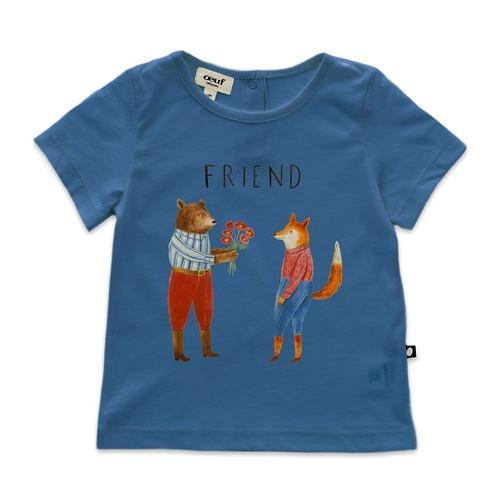 Oeuf Tee shirt / Sky blue