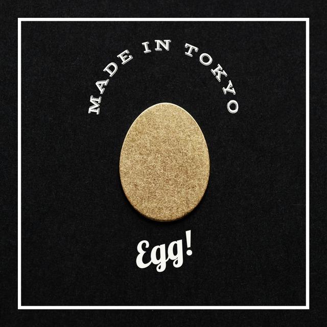 【2個】チャーム 卵型 21.5mm (日本製、真鍮、無垢)