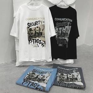 コラージュプリントTシャツ BL8647
